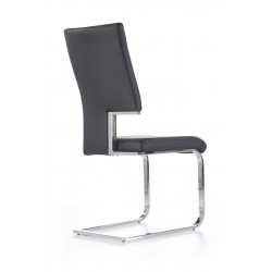 Chaise ultra moderne noire Clint