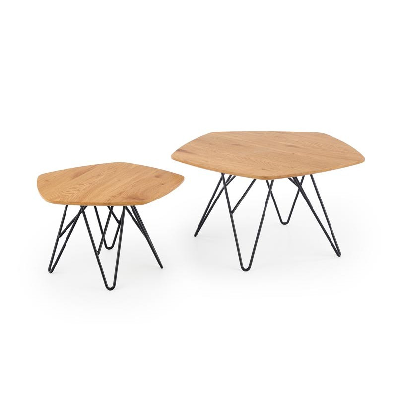 Double table basse contemporaine 56x75 cm Teddy