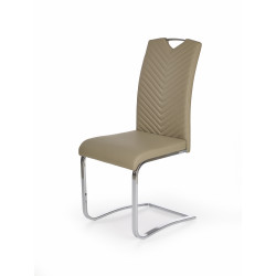 Chaise design confort marron beige noir Vlada