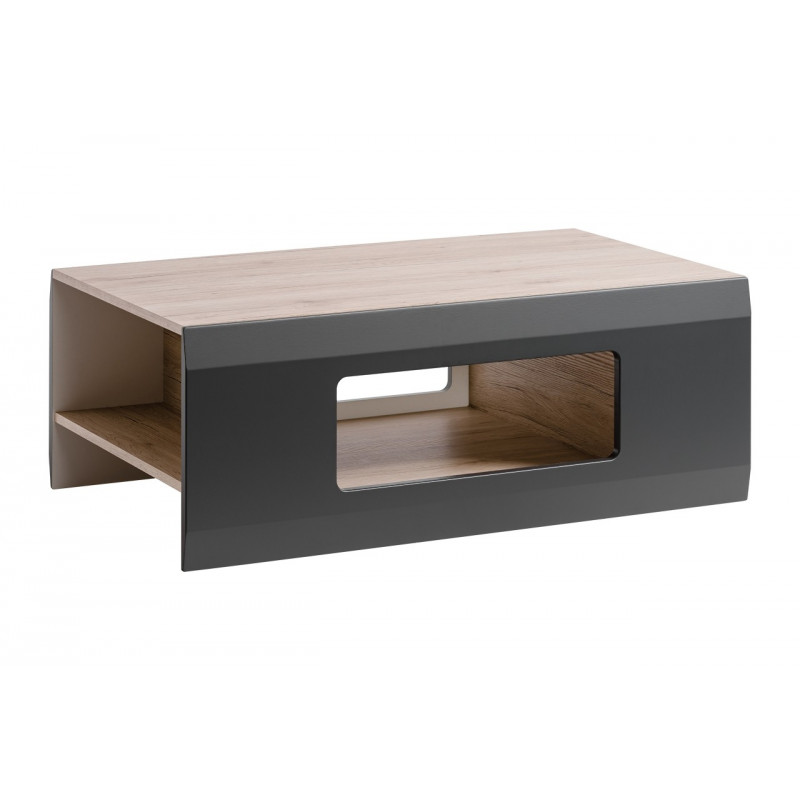 table basse gris mat et aspect ch ne zao so inside. Black Bedroom Furniture Sets. Home Design Ideas