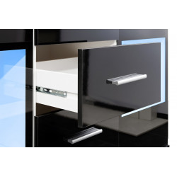 Buffet 2 portes 4 tiroirs noir et blanc brillant Watch