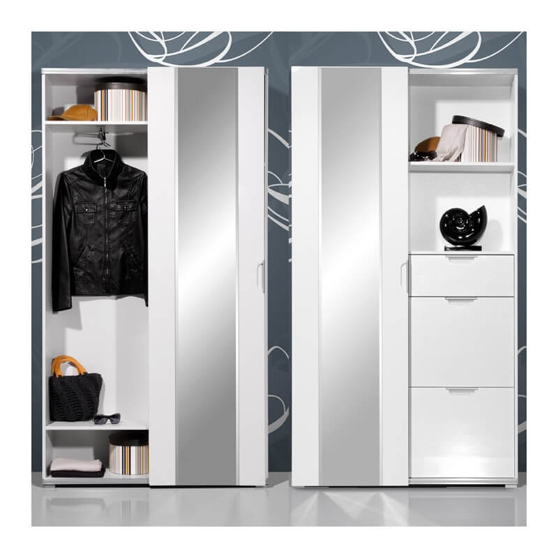vestiaire d 39 entr e moderne volano vestiaires design noir et blanc. Black Bedroom Furniture Sets. Home Design Ideas