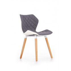Chaise design scandinave gris et blanc Anders
