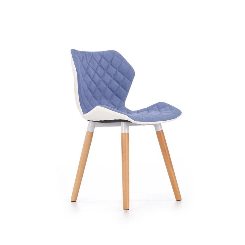Chaise design scandinave bleu et blanc Anders