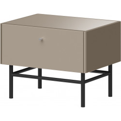 Table de chevet gris pierre HEAVY