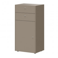 Commode 1 porte 2 tiroirs gris pierre HEAVY