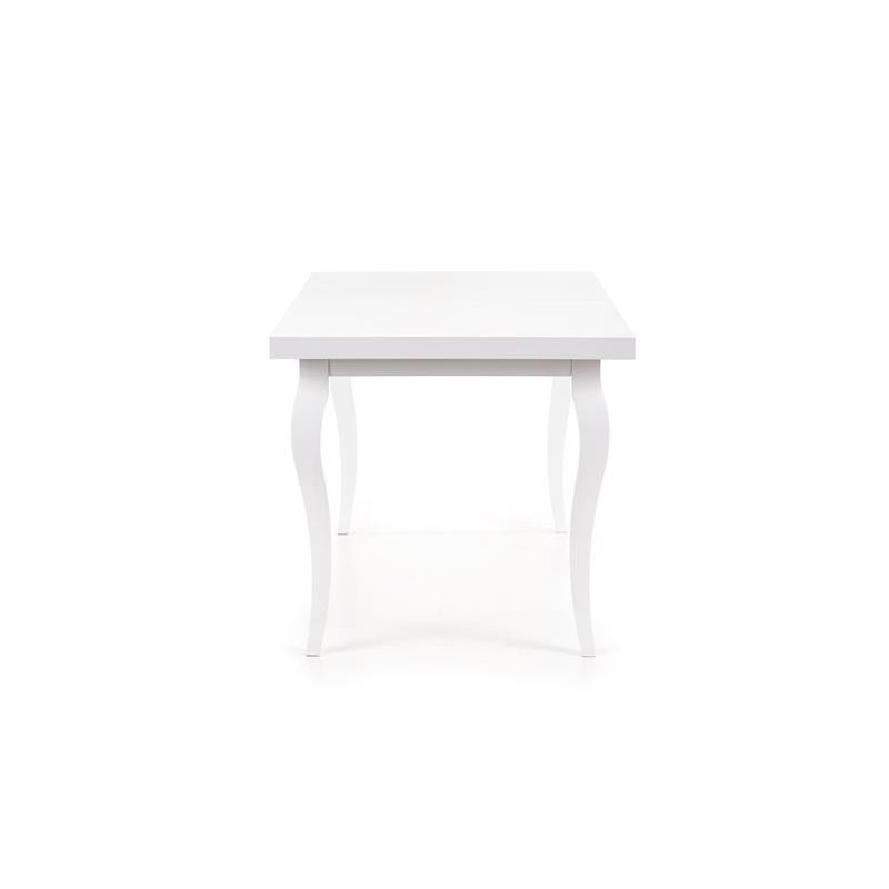 Belle table a manger extensible blanche style baroque vilta - Table salle a manger rallonge ...