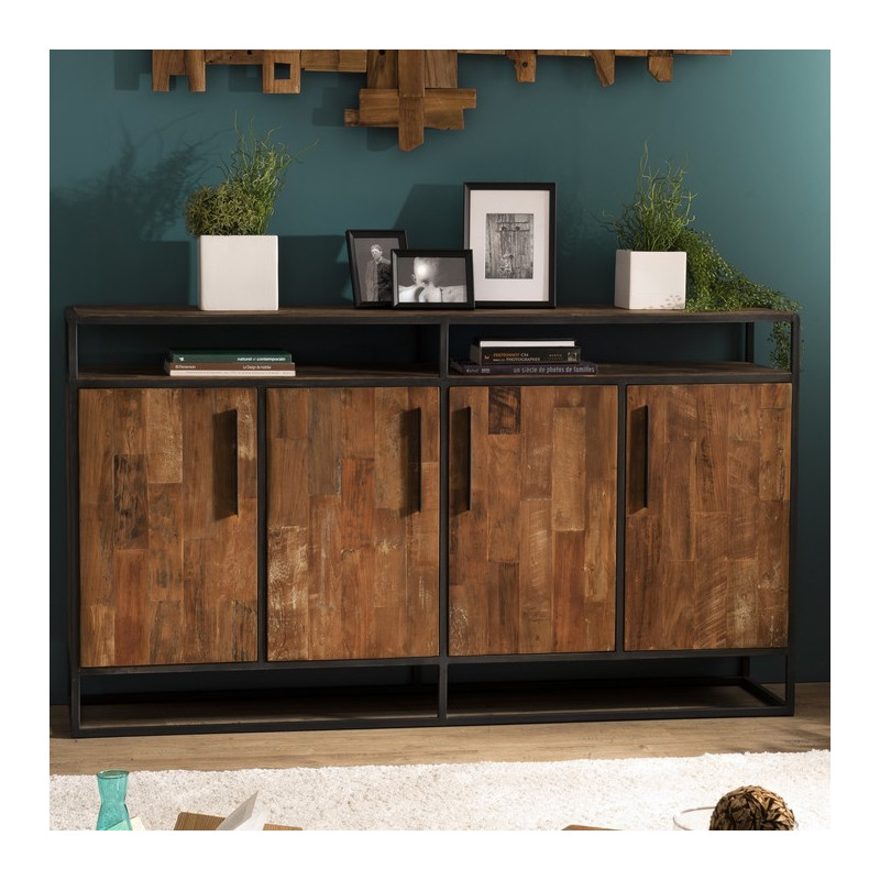 Long buffet design industriel 178x40cm Tinesixe