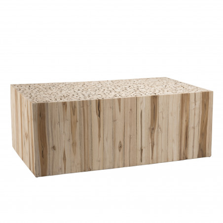 Table basse design rectangulaire teck 110x60cm Woody