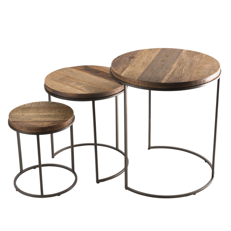 Tables gigognes x3 design industriel Tinesixe