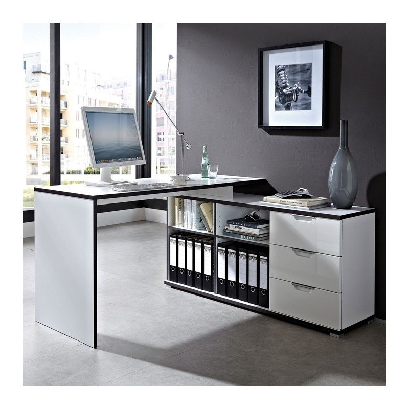 bureau d 39 angle design avec caisson area bureaux design. Black Bedroom Furniture Sets. Home Design Ideas