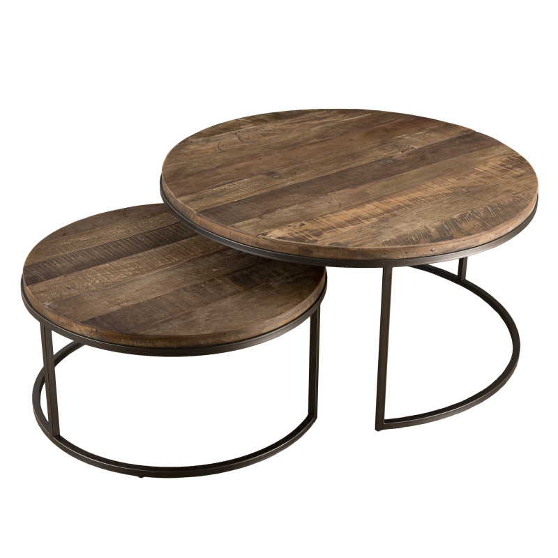 Tables basses gigogne x2 design industriel Tinesixe