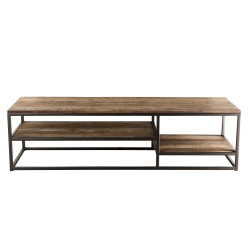 Table basse rectangulaire design industriel 150x50cm  Tinesixe