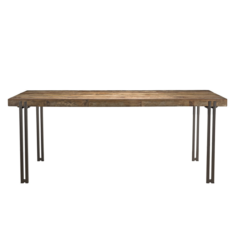 Table à manger design industriel 200x90cm Tinesixe