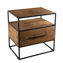 Table d'appoint design industriel 47x35cm Tinesixe