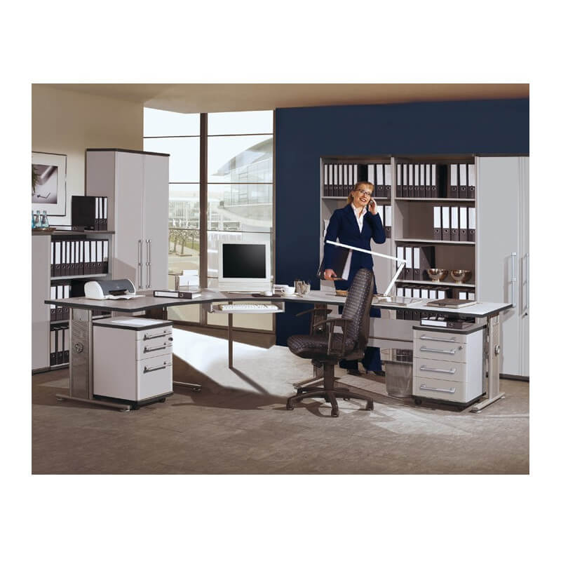 bureau r glable en hauteur profile bureaux design noir et blanc. Black Bedroom Furniture Sets. Home Design Ideas