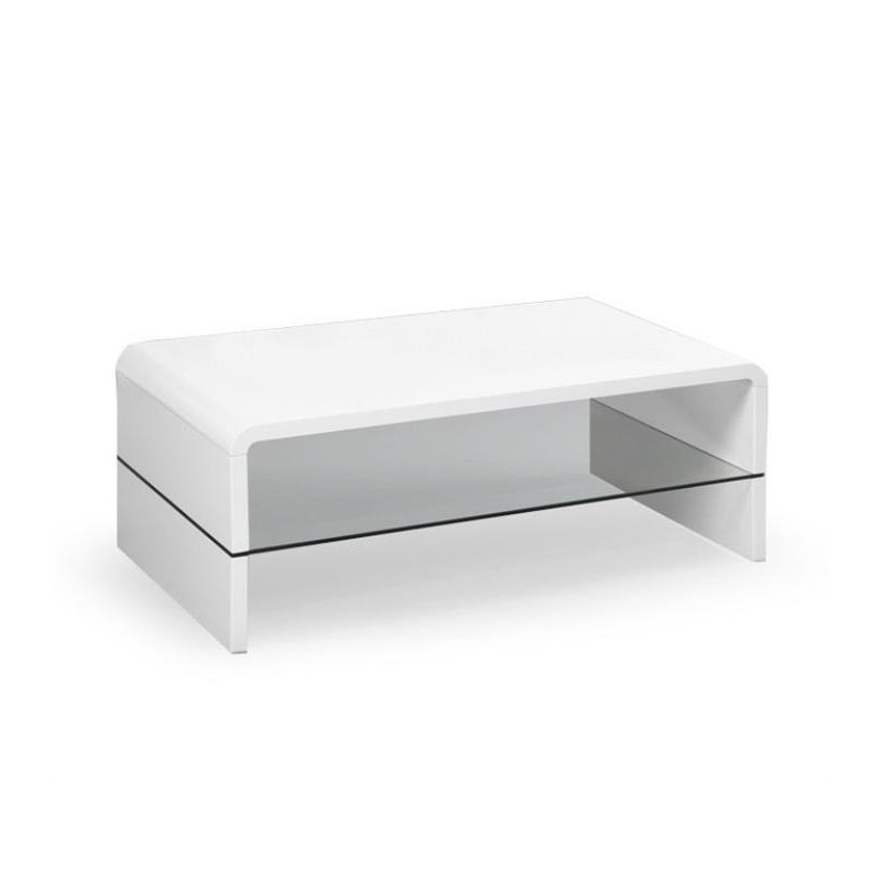 Table Basse Blanche Verre.Table Basse Blanc Laque Altara