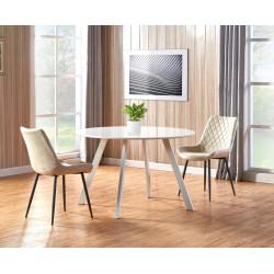 Table ronde 120 cm blanche Arya