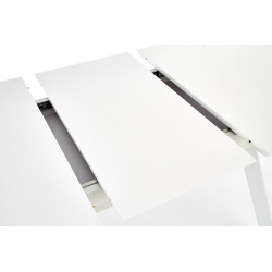 Table rectangulaire extensible blanc laqué Boss