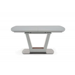 Table a manger design gris mat pied métal Cara