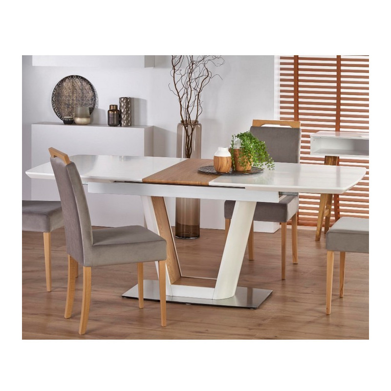 Grande Table A Manger Avec Rallonge: Table A Manger Scandinave Design Avec Rallonge Solly