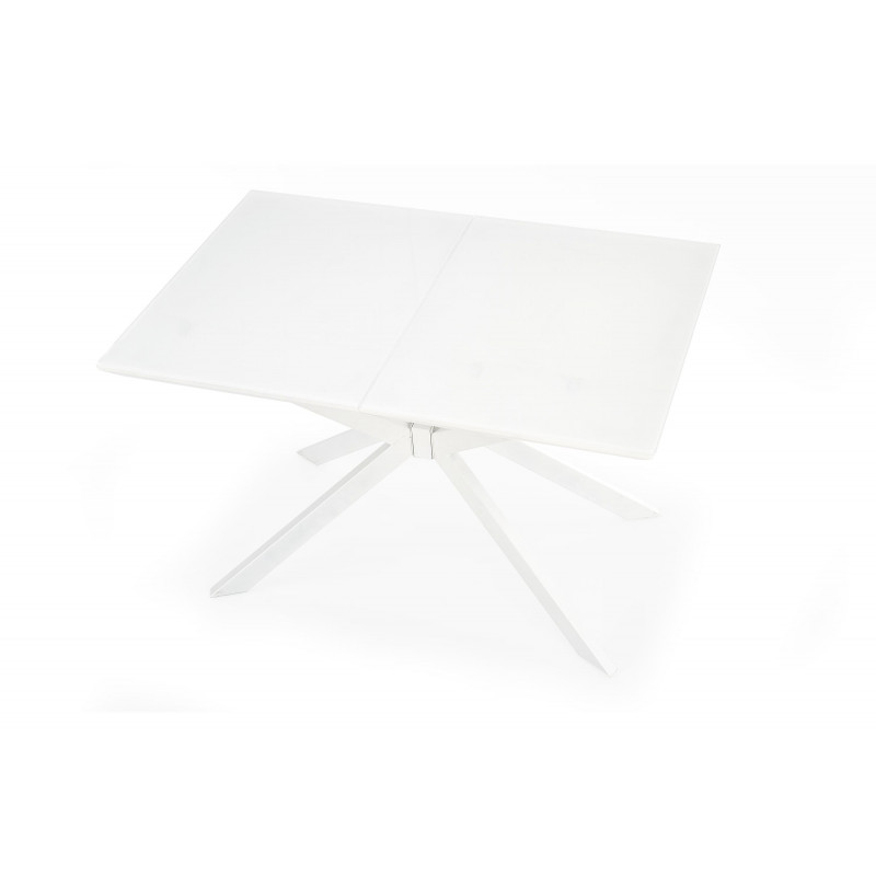 Table rectangulaire extensible blanche Happy