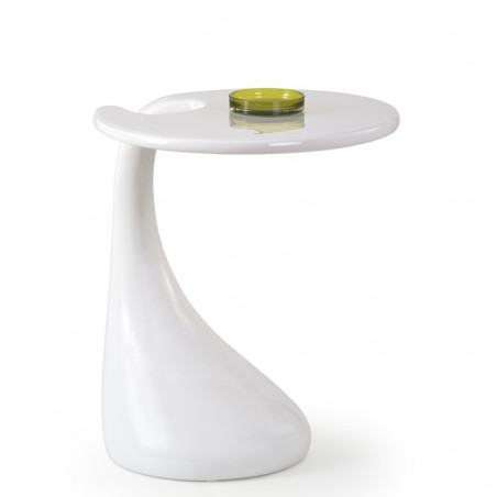 Table d'appoint blanche Diva
