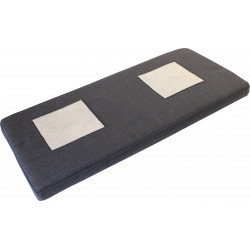 Coussin d'assise gris anthracite Gobi