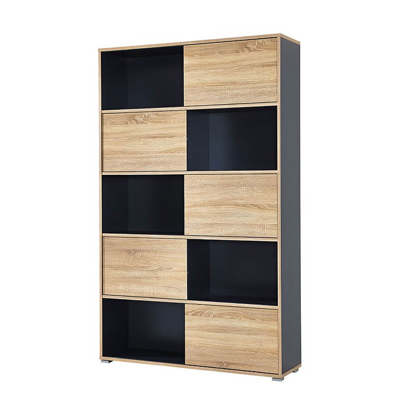 Armoire de bureau grise leader armoires de bureau design for Armoire bureau design