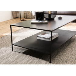 Table basse rectangulaire m'tal industrielle
