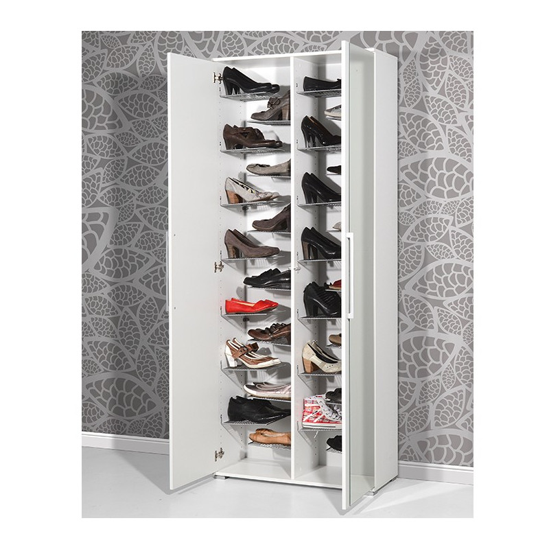 armoire chaussures avec miroir lila meubles. Black Bedroom Furniture Sets. Home Design Ideas