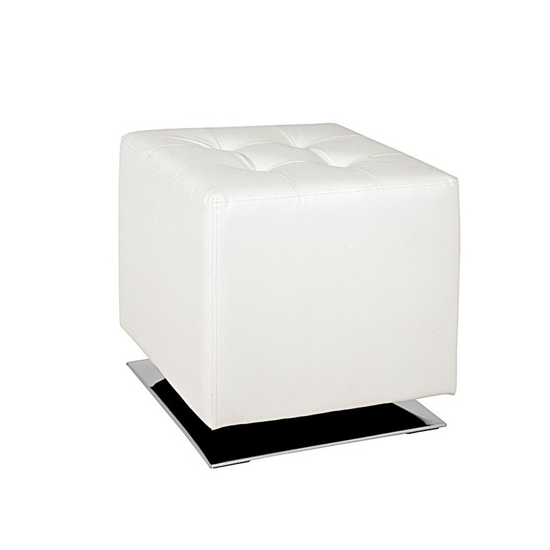 pouf pivotant blanc mario poufs design blanc. Black Bedroom Furniture Sets. Home Design Ideas