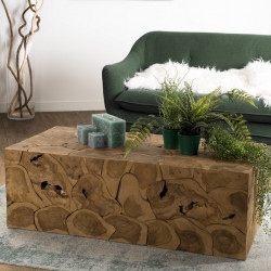 Table basse 120x60cm Teck nature