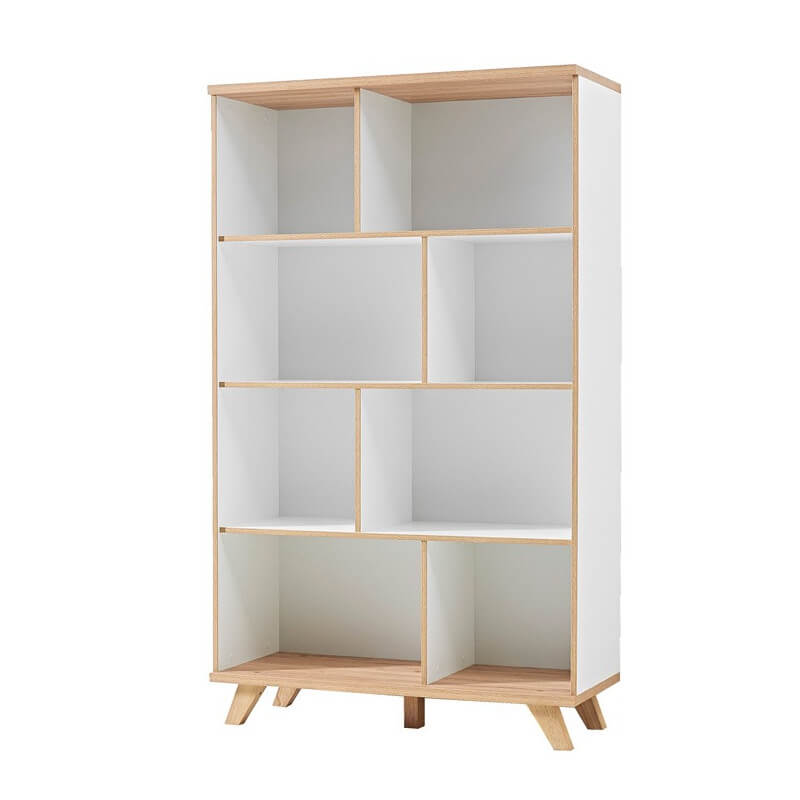 armoire de bureau blanc et bois scandinave malmo. Black Bedroom Furniture Sets. Home Design Ideas