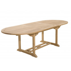 Table ovale extensible en teck 180/240x100x75cm Summer