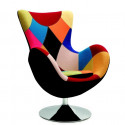 Fauteuil oeuf patchwork style Arne Jacobsen