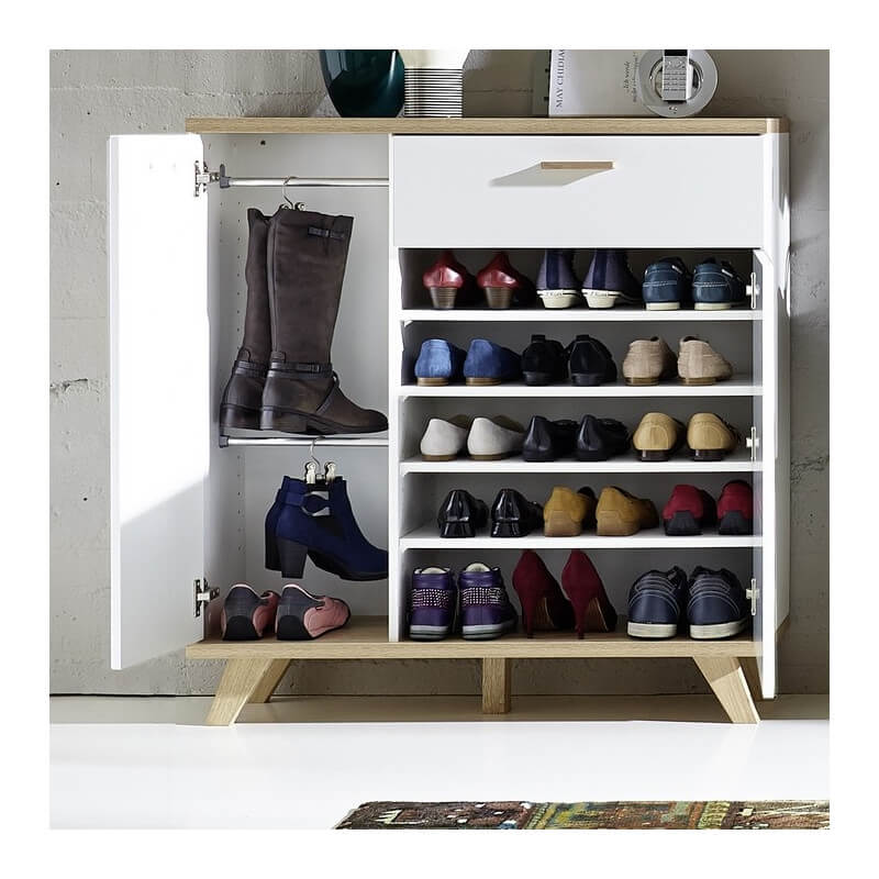 meuble a chaussures scandinave malmo. Black Bedroom Furniture Sets. Home Design Ideas