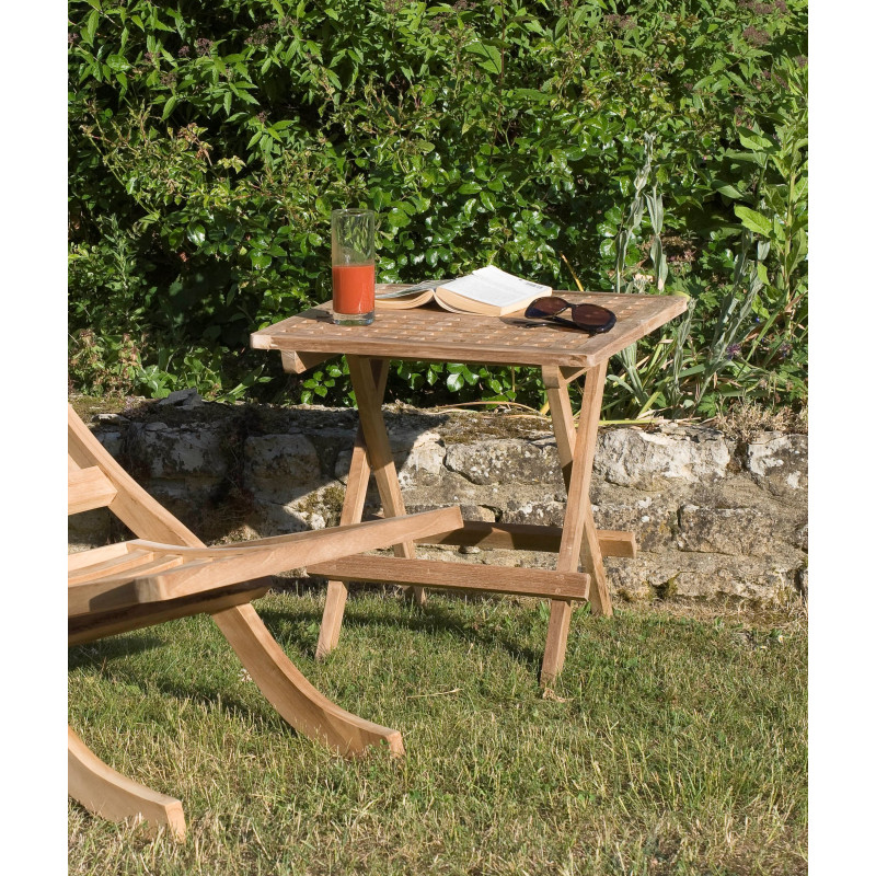 Table carrée en bois de teck Summer