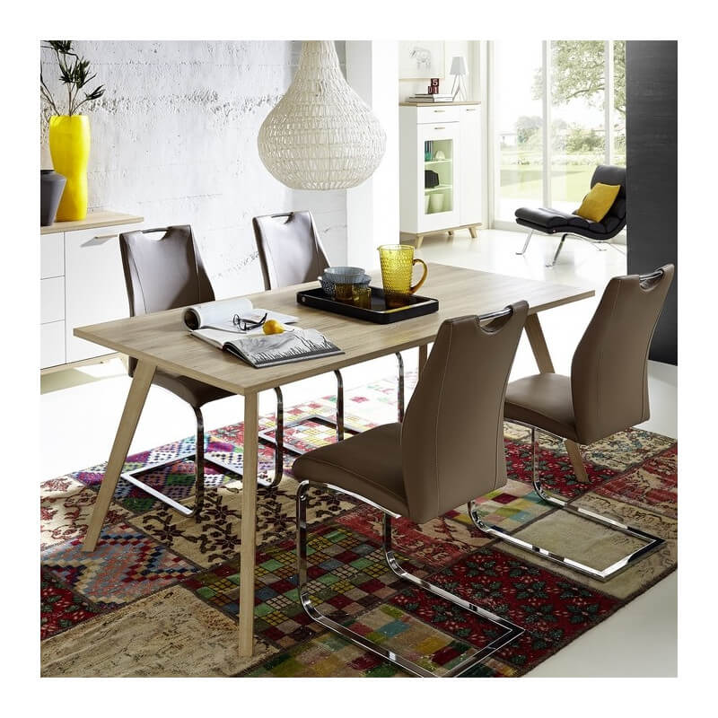table salle a manger scandinave 160x80cm malmo. Black Bedroom Furniture Sets. Home Design Ideas