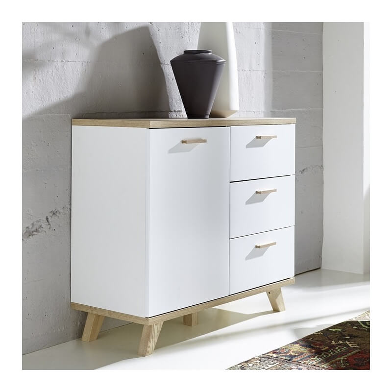 commode scandinave 1 porte 3 tiroirs malmo. Black Bedroom Furniture Sets. Home Design Ideas