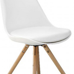chaise scandinave pieds bois massif malmo