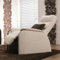 Fauteuil relax cuir Narcisse