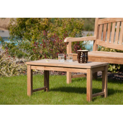 Table basse de jardin rectangulaire en teck massif Summer
