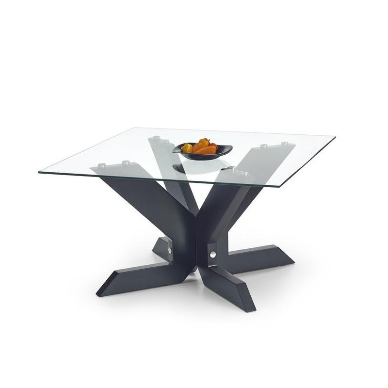 table de salon noir carré 90 x 90cm Sacha