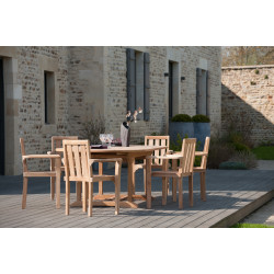 Lot de 2 fauteuils empilables en teck Summer