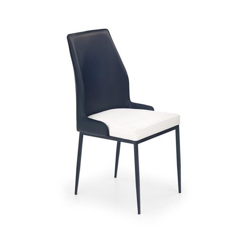 Chaise moderne noir et blanc lexon for Chaise et table moderne