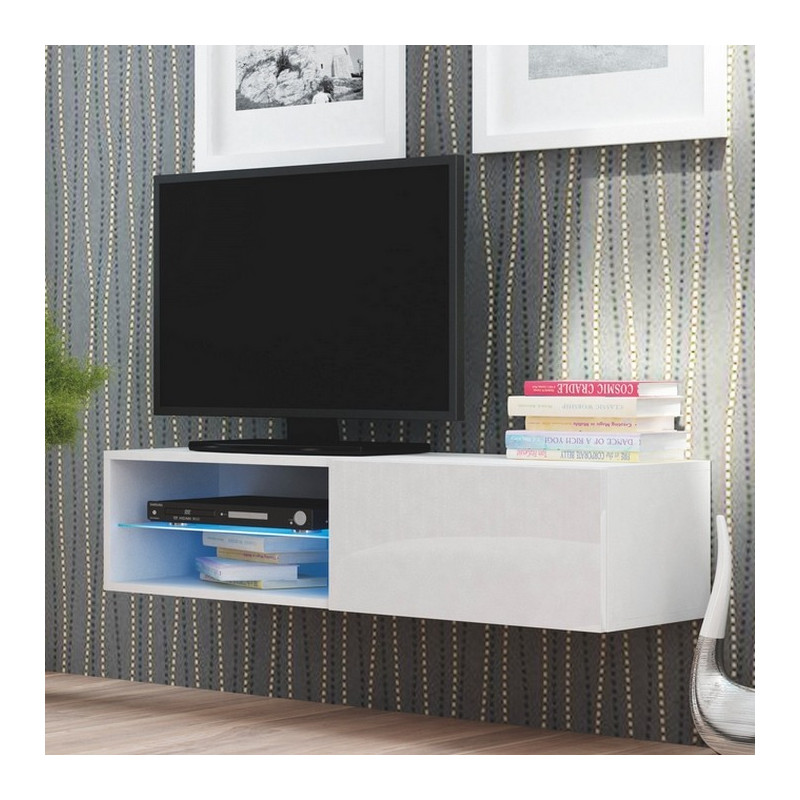 meuble tv suspendu avec led trevise. Black Bedroom Furniture Sets. Home Design Ideas