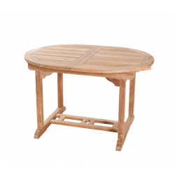 Table de jardin ovale extensible 120/180 x 90 x 75 cm en teck Summer