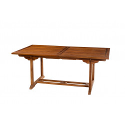 Table de jardin extensible en teck huilé 180/240x100x75cm Thanina